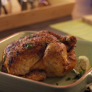 Roasted chicken with honey and lemon