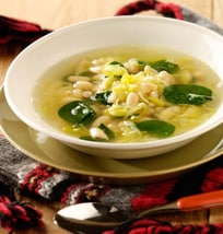 Spinach, Leek And Cannellini Soup