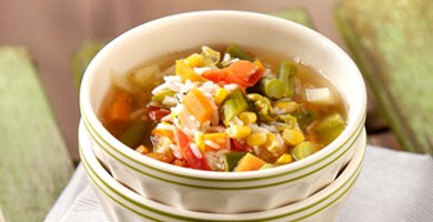 Summer Minestrone With Rice