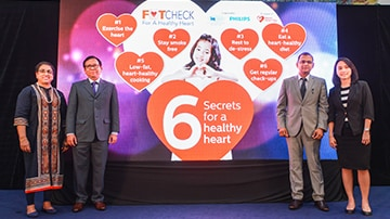 IJN and Philips Malaysia unveil six secrets for a healthy heart